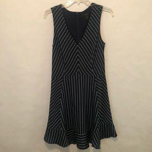 J CREW size 6 navy striped dress